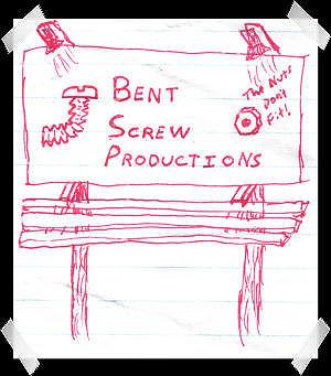 Bent Screw Doodle Image